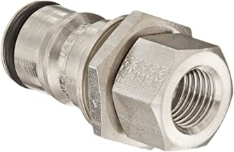 Plug with O-ring and Valve 5//8-18 Female Eaton Hansen 2KLF Stainless Steel Hydraulic Fitting 21//32 OD