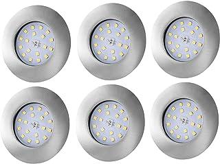 Lot de 6 Spot LED Encastrable Salle de Bain IP44 Étanche, Bojim Spot de Plafond Ultra-Plat, 4500K Blanc Neutre Lumière du ...