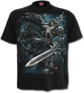 Spiral Grim Rider Hombre Camiseta Negro, Regular