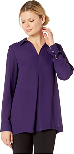 Long Sleeve Collar Top