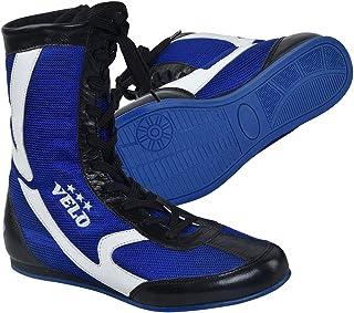 VELO. Leather Boxing Shoes Sports Master Training Mesh Unisex Pro Boot Light Weight