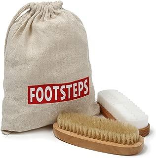 [FOOTSTEPS] 靴磨き ブラシ スエード バックスキン クリーナー クレープブラシ セット