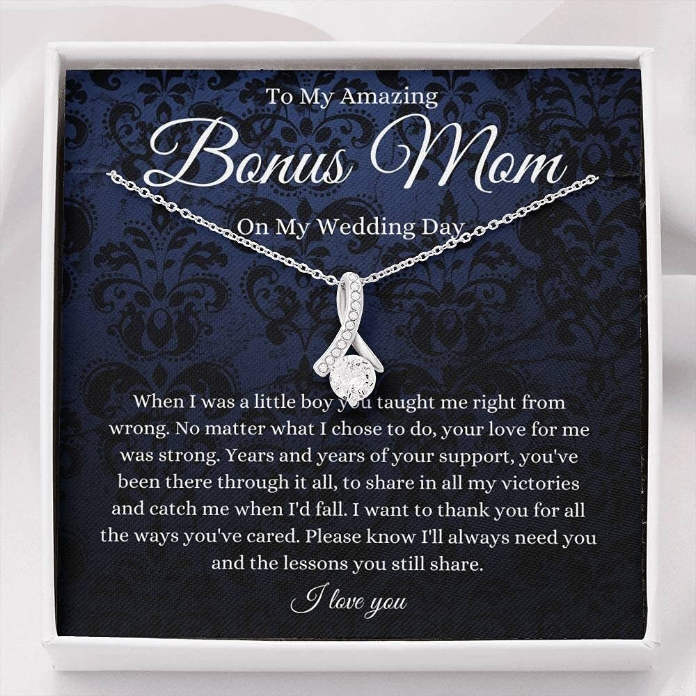 Personalized Pendent Necklace, 23 Pendent Necklace ,To Bonus Mom On My Wedding Day Stepmother Of The Groom Gift From Stepson To Stepmother Of The Groom Necklace From Groom To