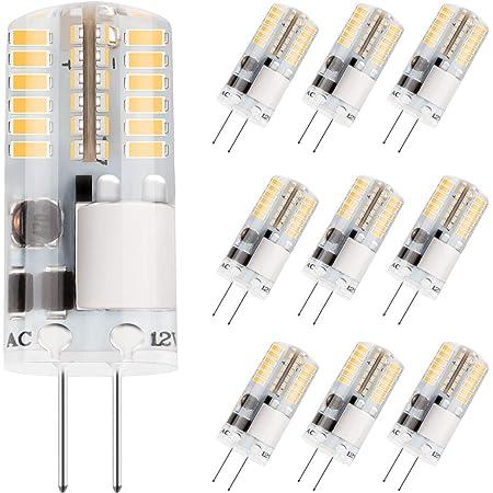 3w Modern LED Bulbs Mini Silica Gel G4 LED Lamp Import Sapphire Cob Chip 3W 260Lm White//Warm White 12V DC//AC 10 Pieces