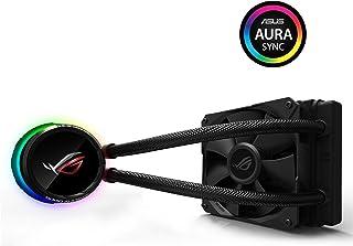 ASUS ROG RYUO 120 - Sistema de refrigeración líquida de CPU, con OLED de Color, Aura Sync RGB, Tubo de Goma Reforzado de 38 cm, Ventilador optimizado