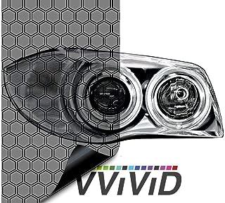 VViViD Extra-Wide Headlight Taillight Vinyl Wet Tint Wrap 16 Inch x 60 Inch Roll (Hex+ Light Smoke)