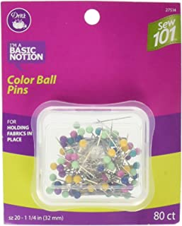 Dritz Sew 101 27514 Color Ball Pins, 1-1/4-Inch (80-Count)