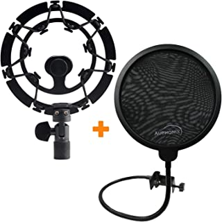 AUPHONIX Blue Yeti Shock Mount & Pop Filter - Easy to fit | Delivers Perfect Voice Clarity & Professional Vibration Blocking | Ideal for Gamers & Gaming, Voiceover Artists, Podcasts & Podcasting