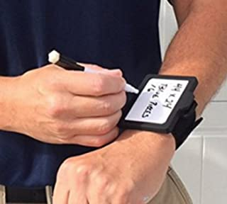 TWIN PACK (2 units) Wear-N-Write™ Wearable Dry Erase Board Set Wristband Notepad Model Includes Dry Erase Board, Adjustable Elastic Comfort Wristband, Black (Low Odor Medium Point) Pen with built in Eraser. Perfect for Nurses, Teachers, Pilots, Contractors, Homeowners. (single pack is found here: https://www.amazon.com/dp/B004DLRV4A