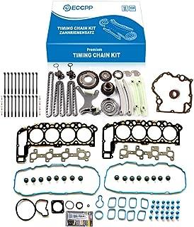ECCPP TK9000 Timing Chain kit water pump Head Gasket Set Fits for 2000 2001 Dodge Dakota,2000 2001 2002 Dodge Durango,2002 Dodge Ram 1500