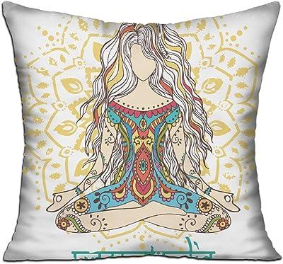 Sitting Fox Sarah Watts Reversible Linen Pillow 20 by 20-Inch