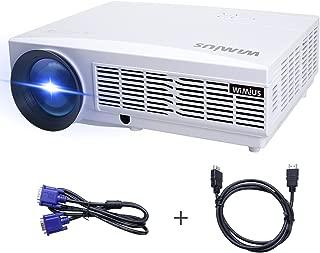WiMiUS プロジェクター ホームシアター 4500lm フルhd 1080Pサポート Projector HDMIケーブル付属 パソコン/USB/スマホ/タブレット/ゲーム機など接続可能 (T6) (ホワイト)