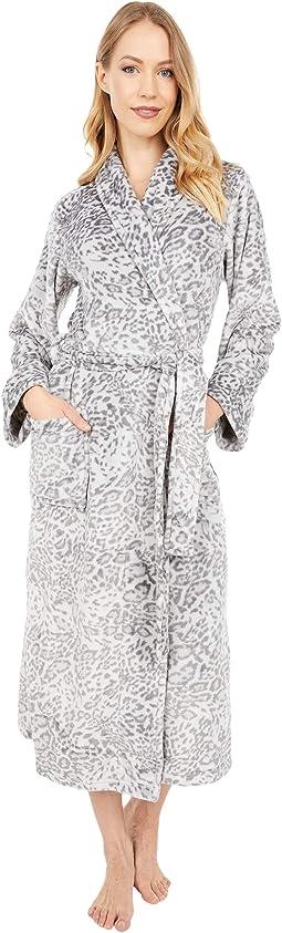 "Cashmere Leopard Robe Length 48"""