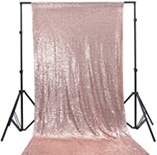 TRLYC 4Ft7Ft Rose Gold Sequin Backdrop Fabric Party Wedding Photo Booth Backdrop