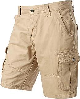 PARKLEES Men's Casual Summer Combat Cotton Twill Cargo Shorts