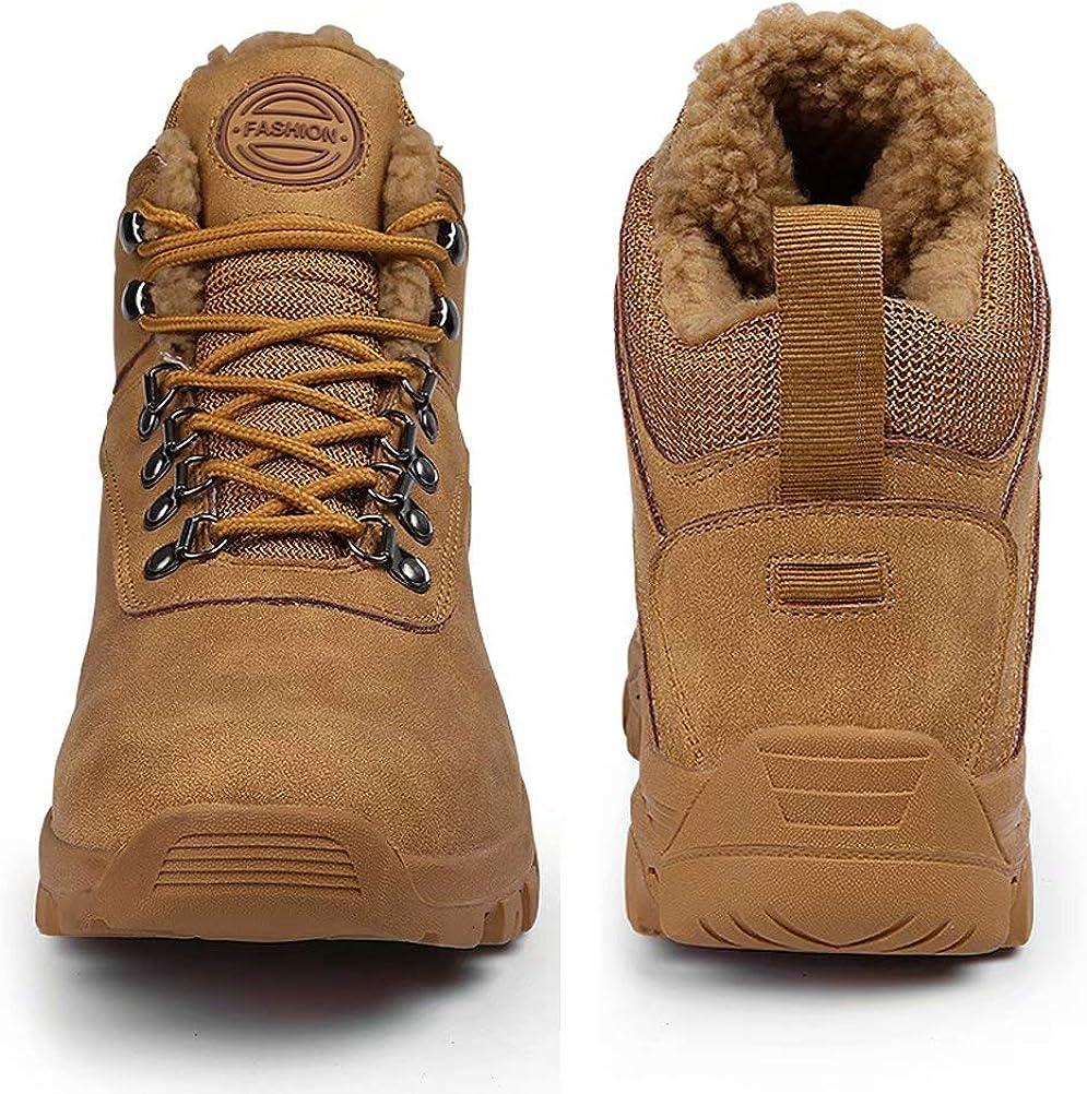 Botas de Invierno Hombre Mujer Botas de Nieve Impermeable Botines Zapatos Fur Forro Aire Libre Boots