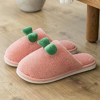 B/H Espuma de Memoria Invierno Pantuflas,Lindas Pantuflas de Felpa para niñas en Invierno, Zapatos de algodón cálido Antid...