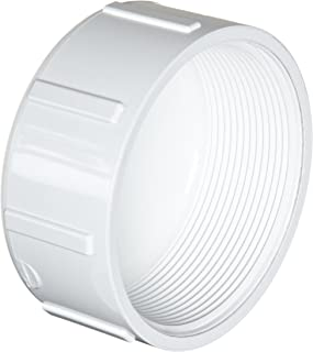 Spears 448 Series PVC Pipe Fitting, Cap, Schedule 40, 2-1/2