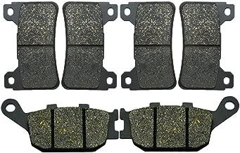 AHL Front & Rear Brake Pads Set for Honda CBR600RR CBR600 RR 2005-2006 (Semi-metallic)