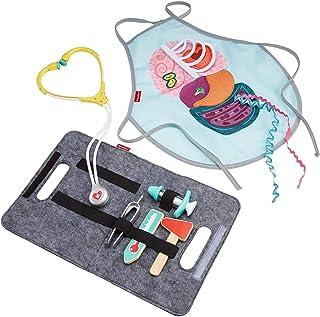 Fisher-Price, juego de doctor y paciente de 9 piezas médicas para jugar; hecho de madera verdadera, para preescolares de 3 años en adelante.