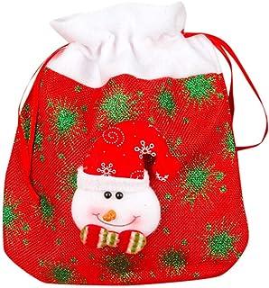 MaNMaNing Sacchetto Regalo Lino Borsa per la Conservazione Caramelle Mele Natale Attività Natalizie Decorazioni Feste