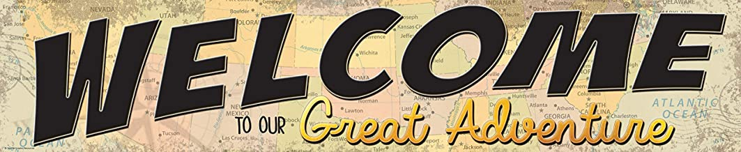 Teacher Created Resources Travel The Map Welcome to Our Great Adventure Banner (TCR8631)