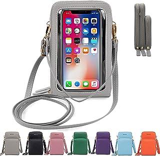 mimiliy Messengerväska mobiltelefon väska pekskärm smartphone plånbok liten plånbok mynt kreditkort hållare justerbar rems...