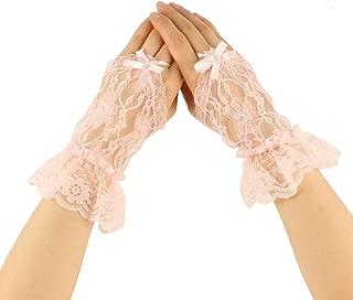 pink ruffle gloves