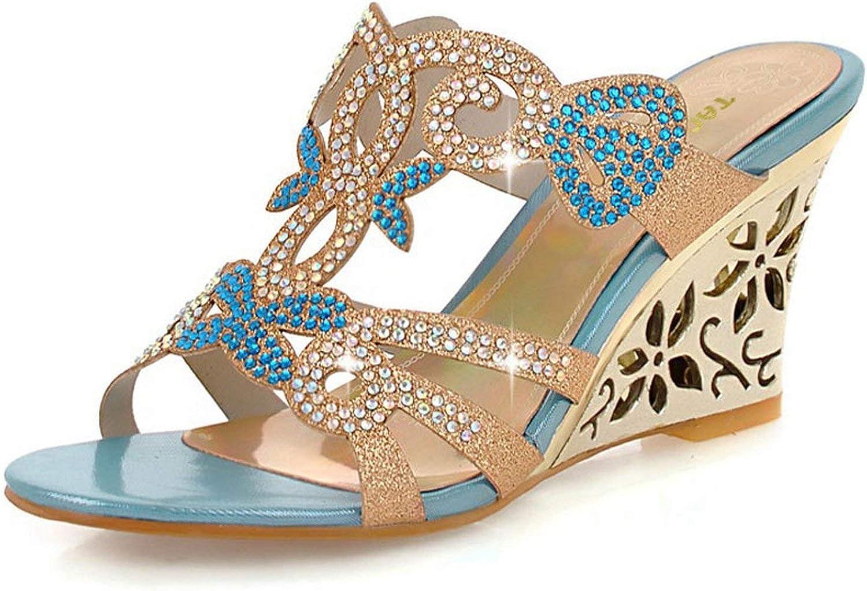 Houfeoans Wedge Sandals Fashion Women Dress Sexy shoes Platform Pumps Size 32-43