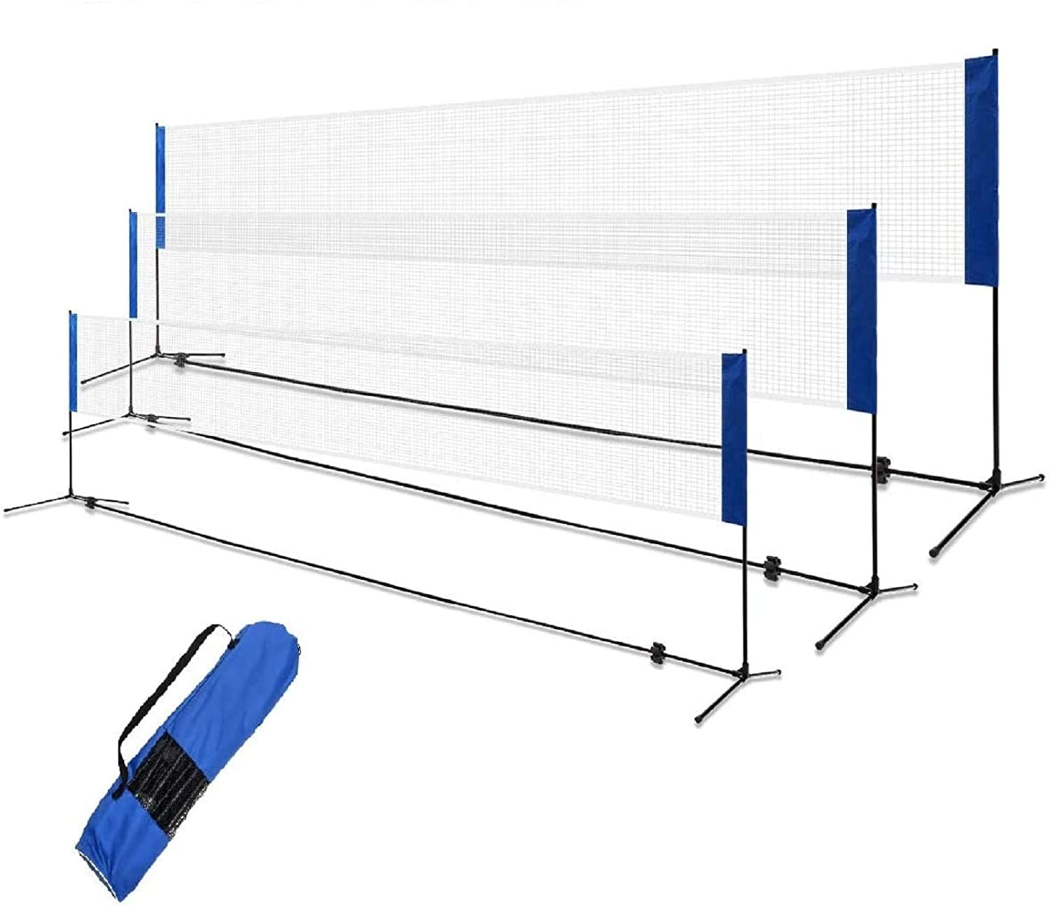 GYMAX Portable Badminton Virginia Beach Mall Net Set 10FT 14FT Sales for sale 17FT Adjustab Height