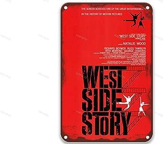 NNHG West Side Story (1961).jpg, Vintage Films Metalen Tin Borden Chic voor Kunst Badkamer Country Home Decor Boerderij 8x...