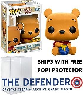 Funko Pop! Disney Winnie The Pooh Flocked Hot Topic Exclusive & Defender Pop! Protector Bundle