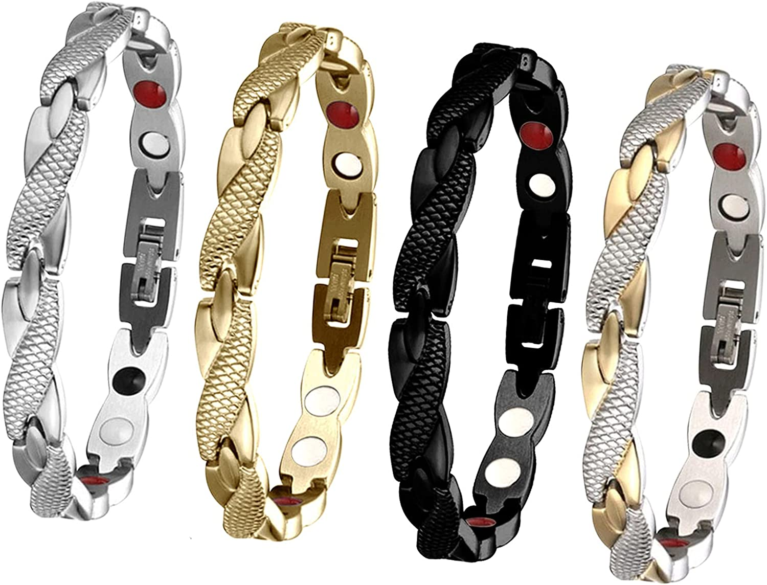 Elegant Magnetic Therapy Fit Limited Special Max 60% OFF Price Plus Slimming Weight Loss Bracelet