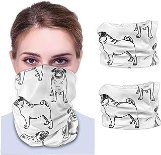 Nother Mops hund söt mops hund – svartvita män och kvinnor ansiktsskydd bandana, multifunktionell huvudduk halsduk halsvär...
