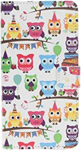 Reevermap iPhone Pro Max Case Phone Cover for iPhone Pro Max  Flip Protective Wallet Shock Absorption Magnet Viewing Stand Function  Colorful Owls