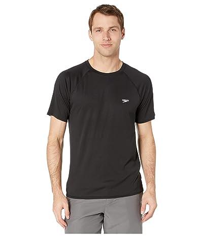 Speedo Easy Short Sleeve Swim Shirt (Speedo Black) Men
