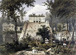 Mexico Tulum 1844 Nthe Castle At The Mayan Ruins Of Tulum On The Yucatan Pensinsula Lithograph By Frederick Catherwood London 1844 Poster Print by (18 x 24)