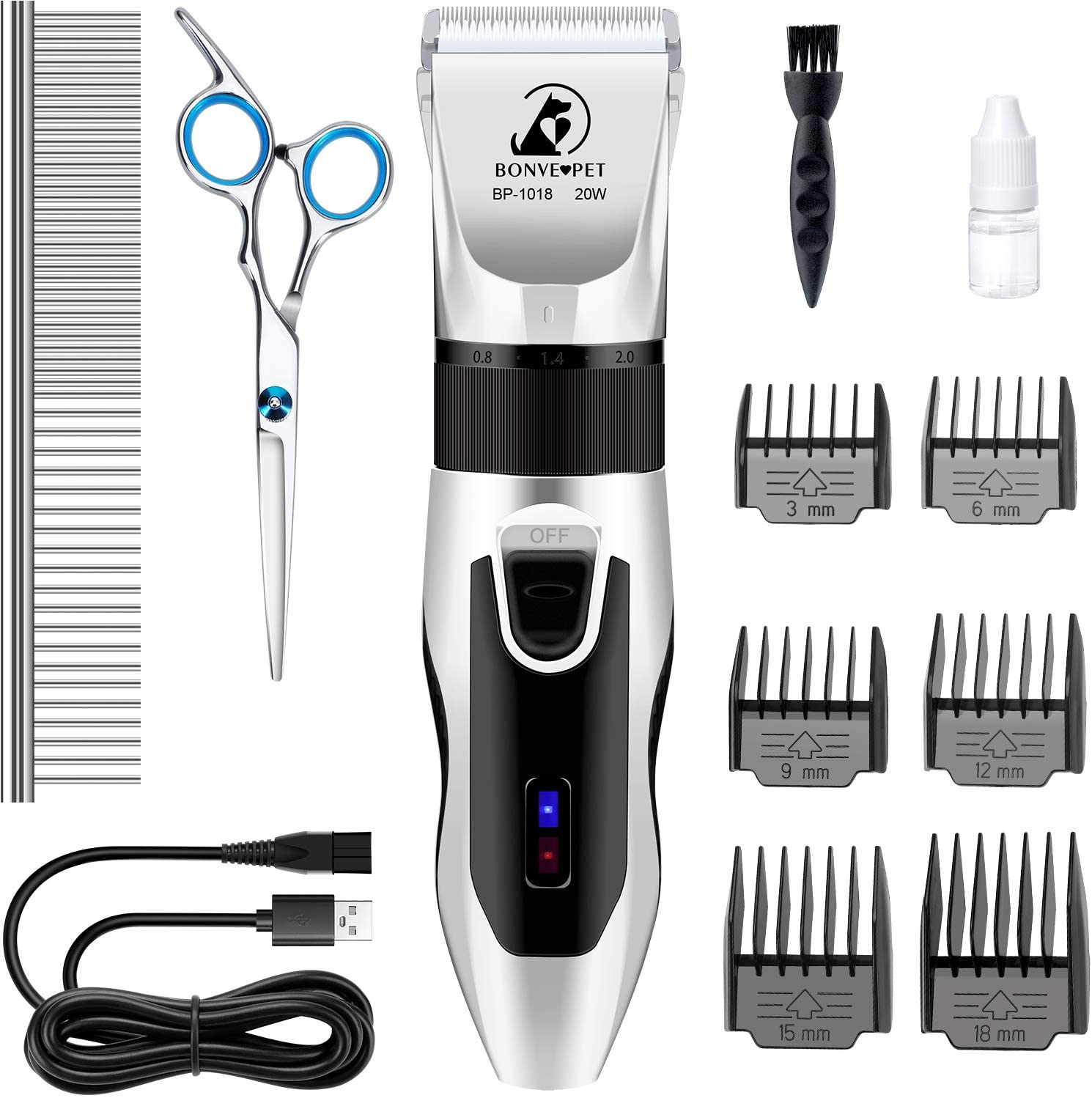 Limited time cheap sale Bonve Pet Dog Clippers Grooming Clip Kit Electric Quiet discount