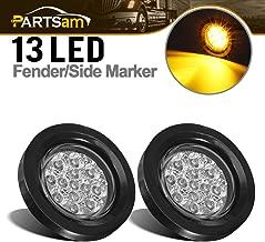 Partsam 2 Pcs Clear Lens Amber LED 2.5