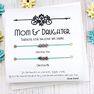 Mom Gifts From Daughter Mother Daughter Bracelet Anklet Happy Birthday Mother Of The Bride Mother Gifts From Daughter Artisanal Wish Bracelet