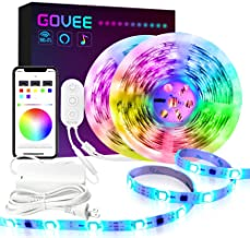 DreamColor 32.8FT LED Strip Lights, Govee WiFi Wireless Smart Phone Controlled Led Light Strip 5050 LED Lights Sync to Music, Work with Alexa, Google Assistant, Android iOS (Not Support 5G WiFi)