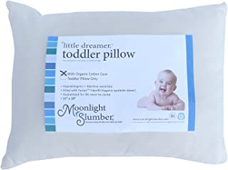 Moonlight Slumber Little Dreamer Toddler Pillow with Removable Organic Case