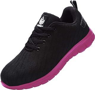 DYKHMILY Chaussures de Securite Homme Femme Chaussures de Travail Embout Acier Basket de Securite Anti-Perforation