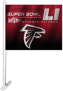 NFL Atlanta Falcons Super Bowl 51Bound KFZ Flagge, 29,2x 36,8cm