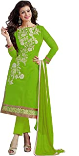 FASHION CARE Present embroidered work Semi-Stitched salwar suit dress material for women's in ethnic wear