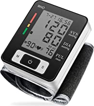 Blood Pressure Monitor Fully Automatic Accurate Wrist Blood Pressure Monitor with Wristband Automatic Wrist Electronic Blood Pressure Monitor Perfect for Health Monitoring