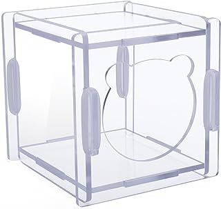 POBO ハムスターケージ 通気性抜群 透明 ハムスターハウス アクリル製