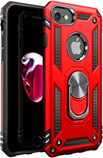 Amuoc iPhone 7 Case | iPhone 8 Case [ Military Grade ] 15ft. Drop Tested Protective Case | Kickstand | Compatible with Apple iPhone 8 / iPhone 7 - RED, askhc-002