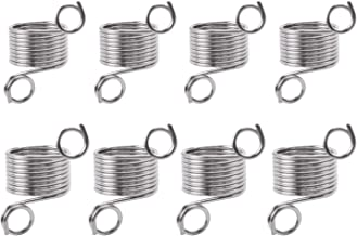 Jdesun 8 Pack Stainless Steel Yarn Guide Finger Ring Holder Knitting Thimble for Crochet Knitting Crafts Accessories Tool,2 Sizes