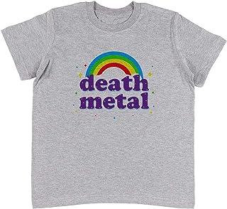08366308bee7e Jergley Death Metal - Death Metal Unisexe Enfants Gris T-Shirt Garçon  Filles | Unisex